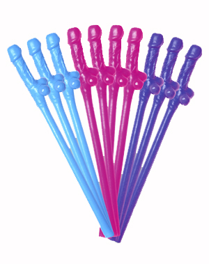 DICKY SIPPING STRAWS - 5 BRIGHT COLOURS AVAILABLE