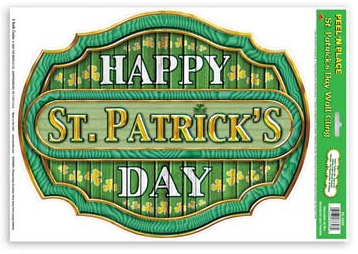 ST PATRICK'S DAY PEEL & PLACE SIGN