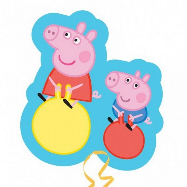 FOIL SUPER SHAPE BALLOON - PEPPA PIG & GEORGE