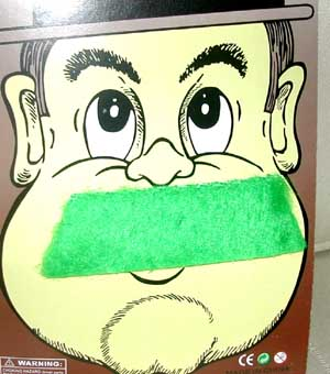 Image of Moustache  Straight Green