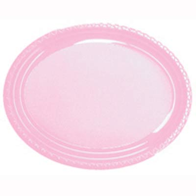DISPOSABLE PLATES LARGE OVAL - PALE PINK PACK OF 25