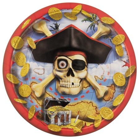 PIRATE BOUNTY DINNER PLATES - PACK OF 8