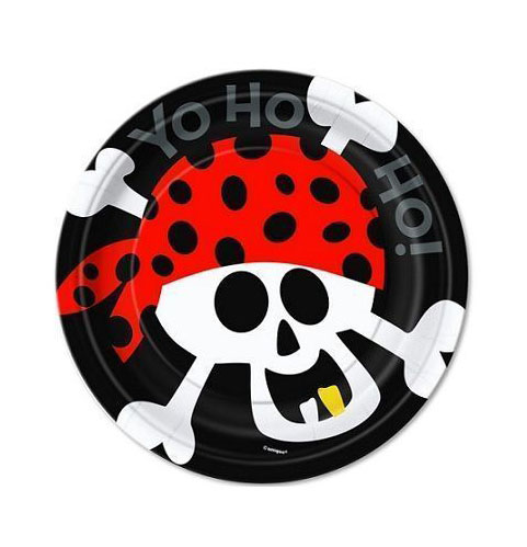 PIRATE FUN LUNCH PLATES - PACK OF 8