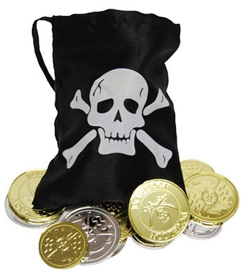 PIRATE COINS & POUCH SET