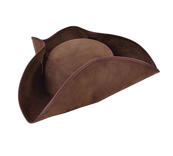 PIRATES HAT - TRICORN BROWN