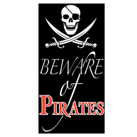 PIRATE DOOR BANNER