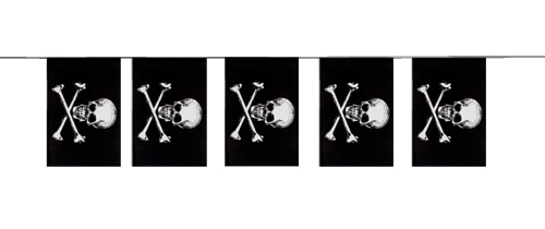 BUNTING PIRATE - SKULL & CROSS BONES