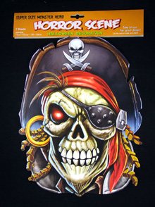 PIRATE SKULL WALL DECORATION LARGE CUT OUT