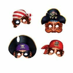 PIRATE MASKS PKT OF 4