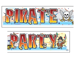 GIANT BANNER - PIRATE PARTY - only 3 left
