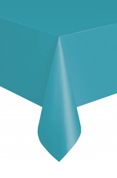 DISPOSABLE TABLECOVER - RECTANGULAR AZURE BLUE