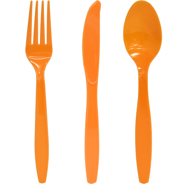 Image of Cutlery  Knife, Fork, Spoon Pk 75  Choice Of 17 Colours