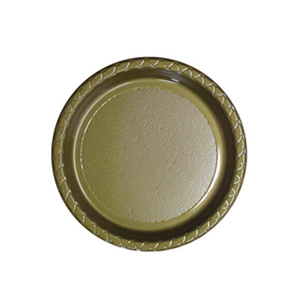Image of Disposable Entree / Snack Plate  Gold Pack Of 25