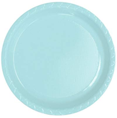 DISPOSABLE DINNER PLATE - PALE BLUE PACK OF 25