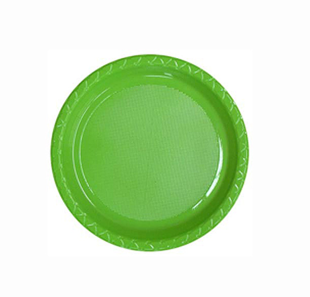 Image of Disposable Entree / Snack Plate  Lime Pack Of 25