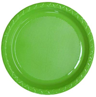 DISPOSABLE DINNER PLATE - LIME PACK OF 25