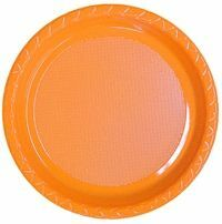 Image of Disposable Dinner Plate  Orange Pack Of 25