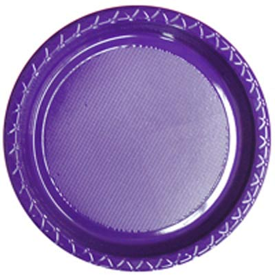 Image of Disposable Dinner Plate  Purple Pack Of 25