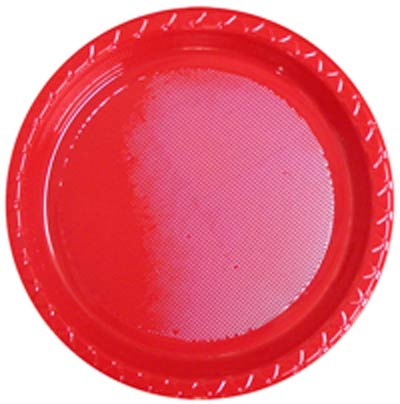DISPOSABLE DINNER PLATE - RED PACK OF 25