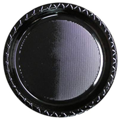 DISPOSABLE DINNER PLATE - BLACK PACK OF 25