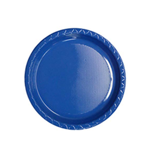 Image of Disposable Entree / Snack Plate  Blue Pack Of 25