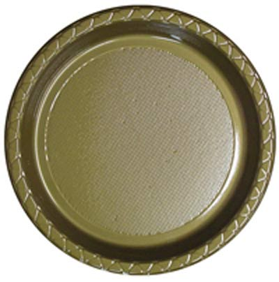 DISPOSABLE DINNER PLATE - GOLD PACK OF 25