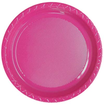DISPOSABLE DINNER PLATE - MAGENTA PACK OF 25