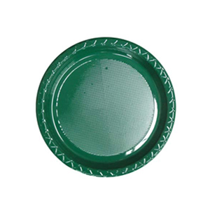 Image of Disposable Entree / Snack Plate  Green Pack Of 25