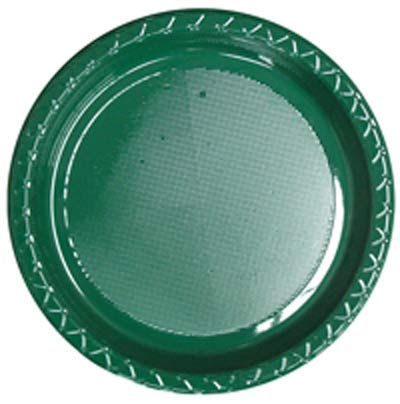 CHRISTMAS GREEN ENTREE / SNACK OR SIDE PLATE - PACK OF 25