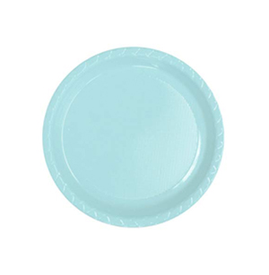 Image of Disposable Entree / Snack Plate  Pale Blue Pack Of 25