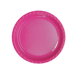 DISPOSABLE ENTREE / SNACK PLATE - MAGENTA PACK OF 25