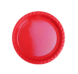 DISPOSABLE ENTREE / SNACK PLATE - RED PACK OF 25