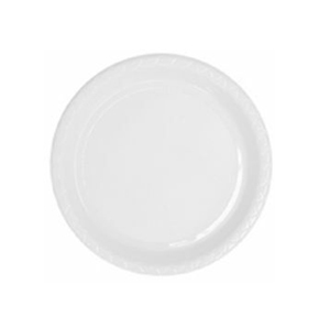 DISPOSABLE ENTREE / SNACK PLATE - WHITE PACK OF 25