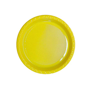 DISPOSABLE ENTREE / SNACK PLATE - YELLOW PACK OF 25