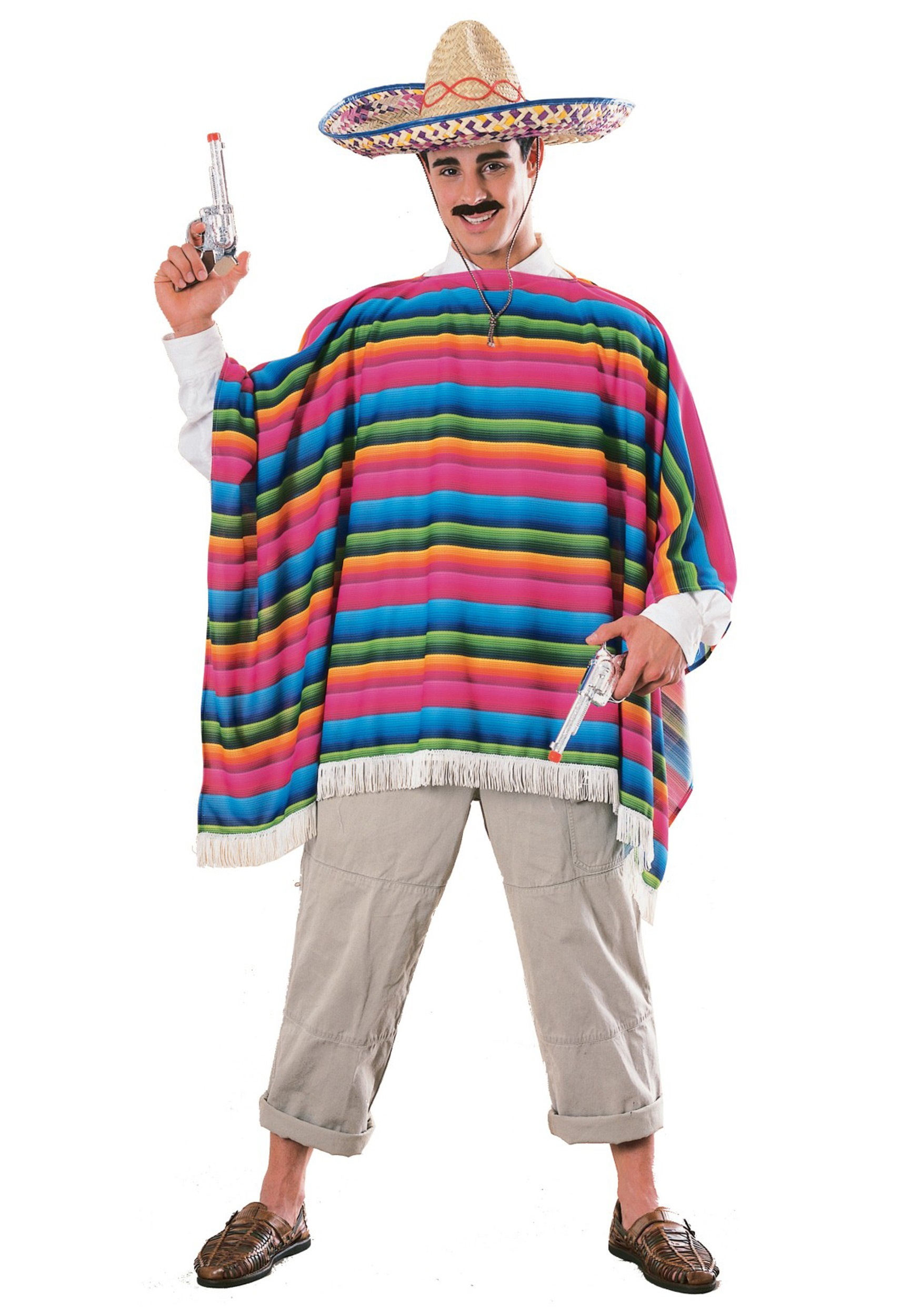 MEXICAN PONCHO MATERIAL ADULT