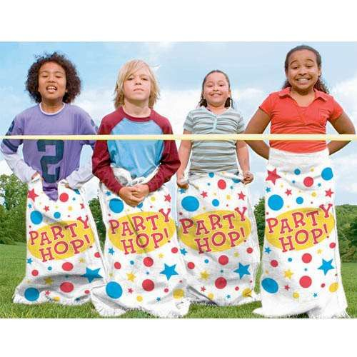PARTY GAME - POTATO SACKS - PACK OF 6