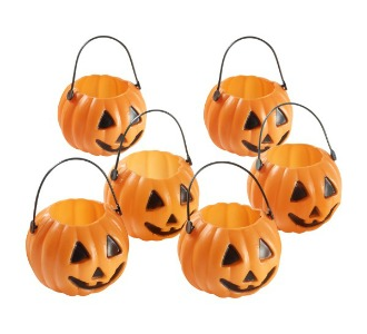 MINI PUMPKIN CAULDRON CANDY CUPS SET OF 12