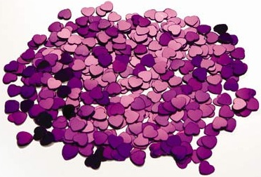 Image of Table Scatters Purple Hearts