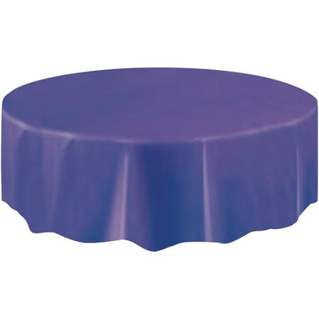 DISPOSABLE TABLECOVER - CIRCULAR PURPLE