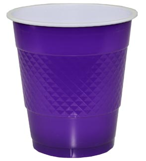 DISPOSABLE CUPS TWO TONE PURPLE - PACK OF 20