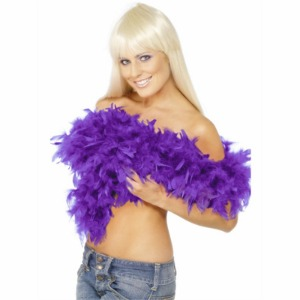 FEATHER BOA - DELUXE PURPLE