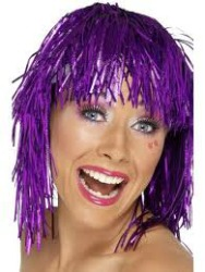 TINSEL WIG - PURPLE