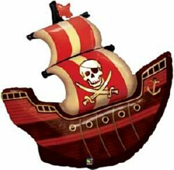 Image of Pirate Ship Super Shape Balloon