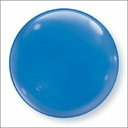 BUBBLE BALLOON - SOLID COLOUR DECOR DARK BLUE PACK OF 4