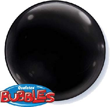 BUBBLE BALLOON - SOLID COLOUR DECOR ONYX BLACK PACK OF 4
