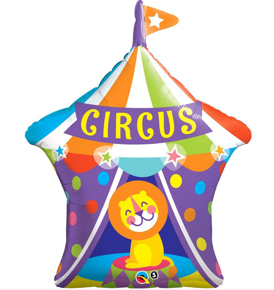 FOIL SUPER SHAPE BALLOON - CIRCUS TENT WITH LION
