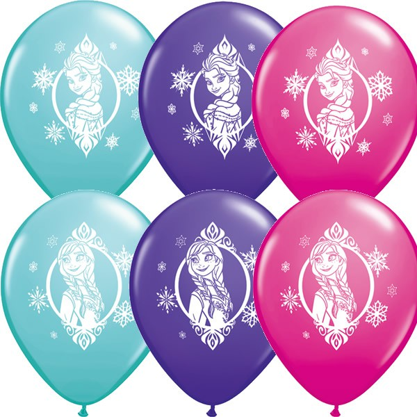 BALLOONS LATEX - DISNEY FROZEN PACK OF 6