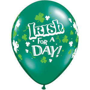 BALLOONS LATEX - 'IRISH FOR A DAY' PACK OF 6