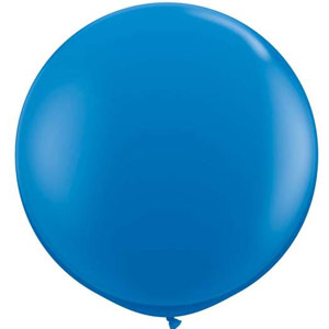 BALLOONS LATEX - STANDARD BLUE 3' ROUND