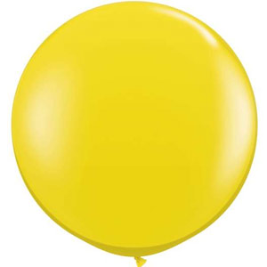 BALLOONS LATEX - JEWEL TONE CITRINE YELLOW 3\' ROUND